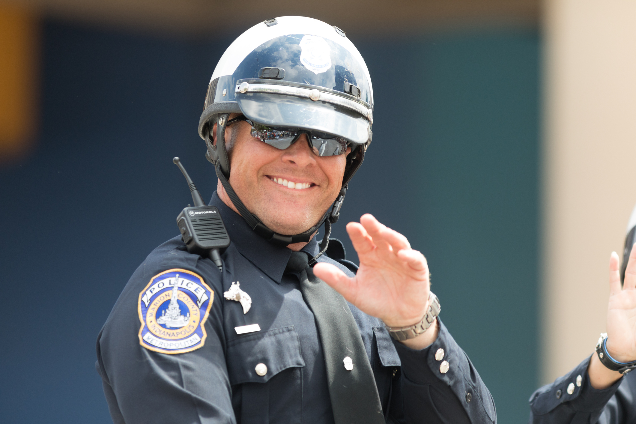 Smiling Indianapolis Police Officer